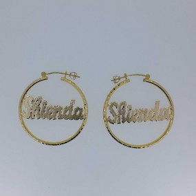 Hoppe earring with name