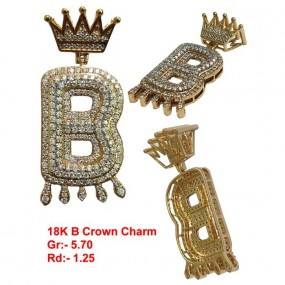 LETTER B WITH CROWN