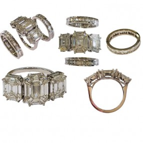 9PCS EMREALD RING