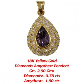 DIAMONDS AMYTHEST PEAR SHAPE