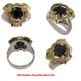 DOLPHINS BALCK DIAMOND RING