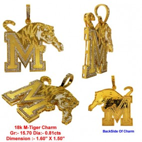 M LION TIGHER CHARM