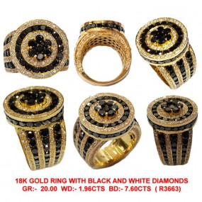 MEN BLACK DIAMOND RING