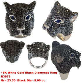PANTHER RING WITH BLACK DIAMONDS