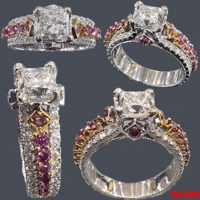 RUBY DIAMOND RING FOR  FEMALE