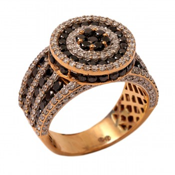 BLACK AND WHITE DIAMOND MEN RING