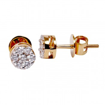 DIAMOND PRESSURE SETTING EARRING